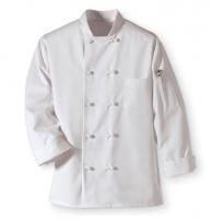 Áo bếp kaki cotton trắng nam DT