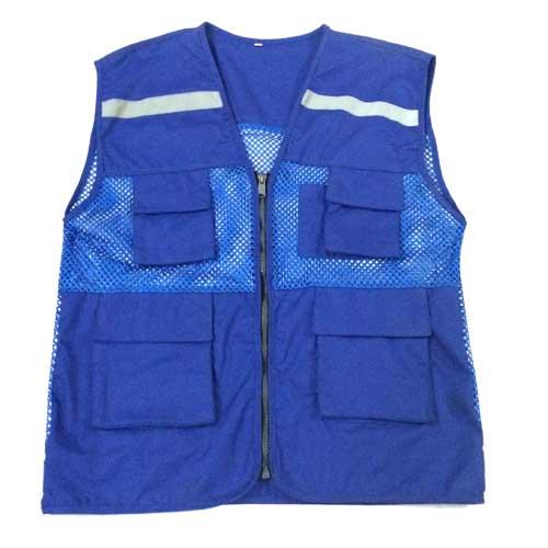 Áo gile phản quang túi hộp màu xanh