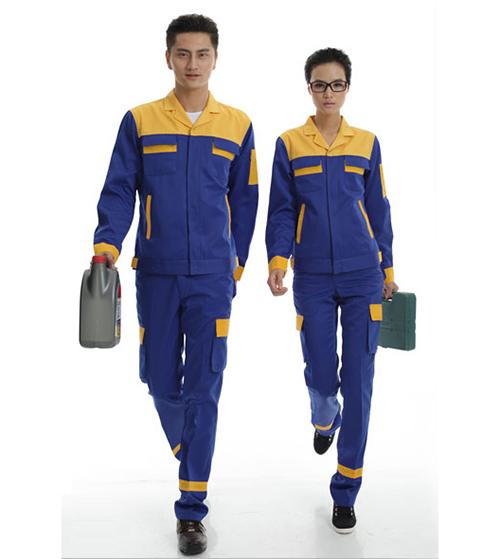 Quần áo bảo hộ phối màu xanh vàng (Hàng đặt may)